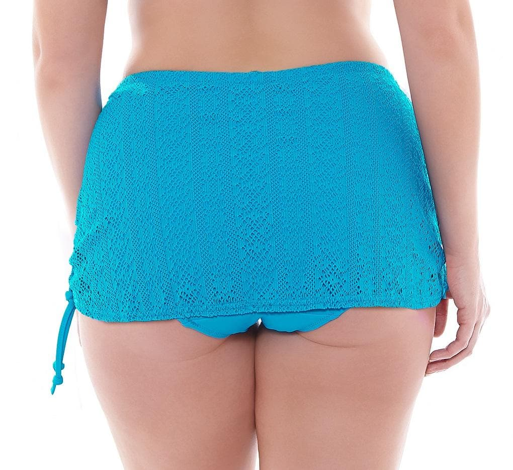 Elomi Kissimmee ES7060 Sky Blue Adjustable Skirted Swim Bottom
