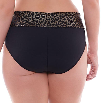 Elomi Wild Thing ES7424 Black Fold Over Brief