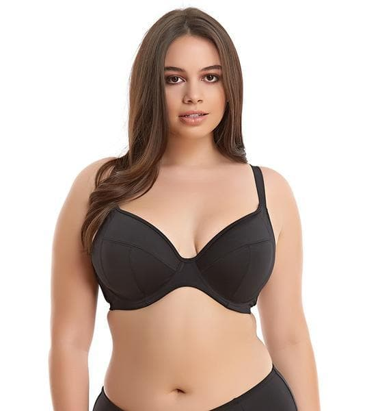 Elomi Essentials ES7504 Black UW Plunge Bikini Swim Bra