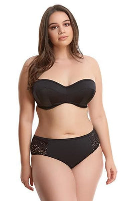Elomi Swim Essential ES7532 Black Underwire Bandeau Bikini Top