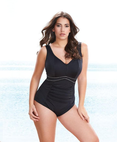 Elomi Essentials ES7617 Black Firm Control Swimsuit