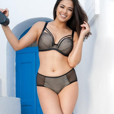 Curvy Kate Jinx SG5511 Black Almond Molded Plunge Strappy Bra