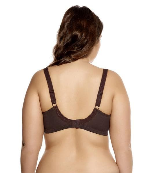 Back of Goddess Keira GD6090 Chocolate Underwire Banded Bra