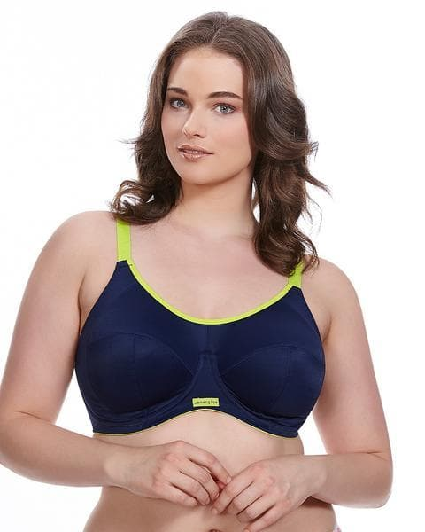 Elomi Energise EL8041 Navy Underwire Sports J-Hook Bra