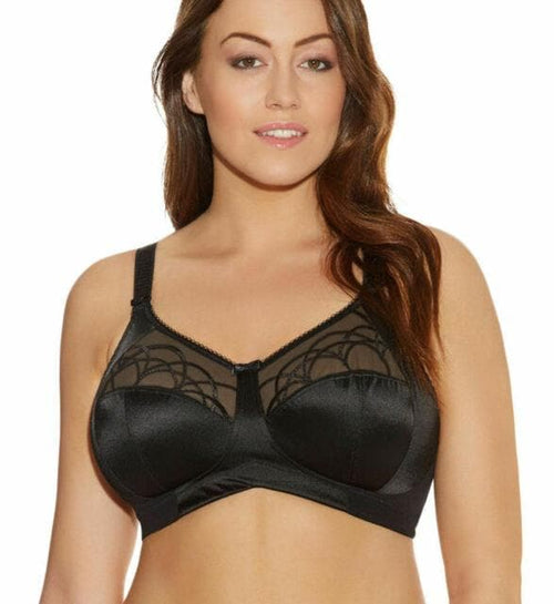 Elomi EL4033 Black wire free embroidered banded bra