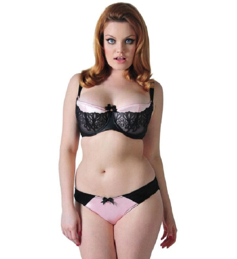Scantilly Invitation ST2501 Black Crystals UW Half Cup Bra NWT Large Cup Sizes