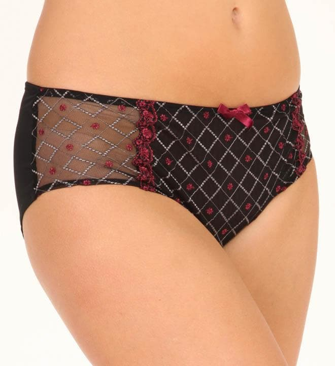 Sculptresse Dina 7114 Black/Red Brief