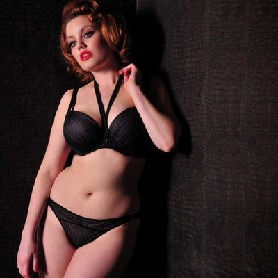 Scantilly All Wrapped Up ST2201 Black Crystal UW Foam Lined Plunge Bra