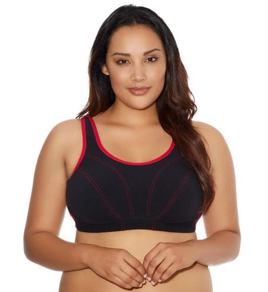 Goddess Synergy GD6910 Black Soft Cup Sports Bra