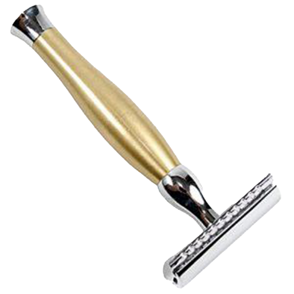 PARKER - 48R  HEAVYWEIGHT GOLD TONE HANDLE SAFETY RAZOR