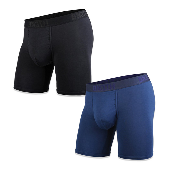 BN3TH CLASSIC BOXER BRIEF 2 PACK -  SOLID (BLACK & NAVY)