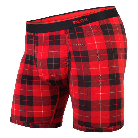 BN3TH CLASSIC BOXER BRIEF - FIRESIDE PLAID (RED)