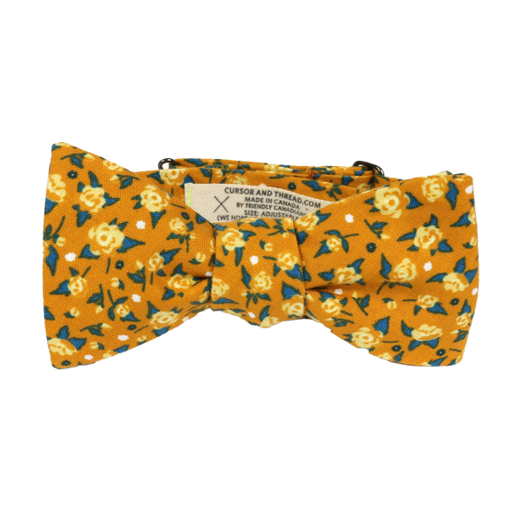 CURSOR & THREAD - MARIGOLD YELLOW FLORAL BOW TIE