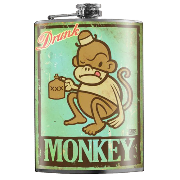 TRIXIE & MILO - DRUNK MONKEY FLASK