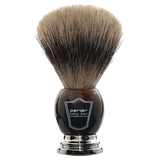 PARKER - FAUX HORN HANDLE PURE BADGER BRISTLE SHAVE BRUSH