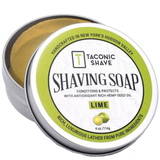 TACONIC SHAVE - GLYCERIN, HEMP OIL & LIME SHAVE SOAP