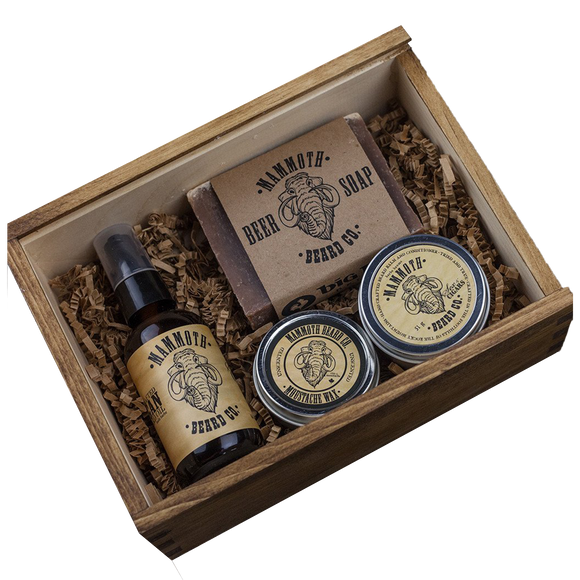 MAMMOTH BEARD CO. - ORIGINAL CEDARWOOD BEARD BOX