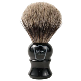 PARKER - EBONY HANDLE PURE BADGER BRISTLE SHAVE BRUSH