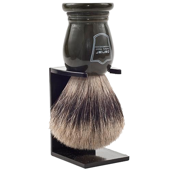 PARKER - DARK GREEN HANDLE PURE BADGER BRISTLE SHAVE BRUSH