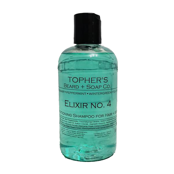 TOPHER'S BEARD & SOAP CO. - 2-IN-1 HAIR & BEARD SHAMPOO