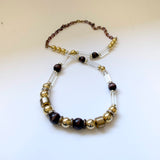 Cadoro Translucent Lucite Golden Necklace Vintage Plastic Jewelry