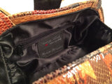 Timmy Woods Snakeskin Black Clasp Bag Crossbody Handbag Couture Clutch Purse NWT