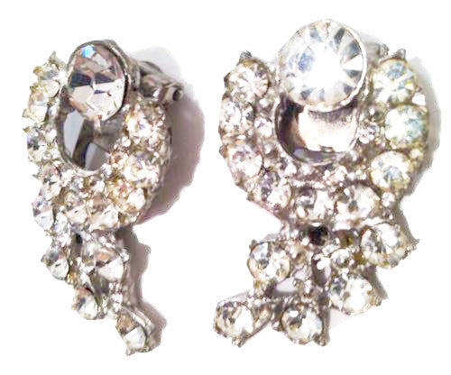 Shoe Clip Set 2 Rhinestones Clips Vintage Jewelry Accessories