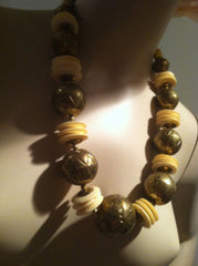 Brass Vintage Jewelry Ethnic Bold Necklace Handcrafted
