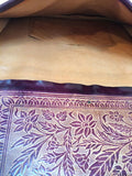Handmade Etched Leather Clutch Bag Vintage Accessories