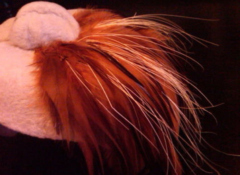 Fascinator Toque Hat Orange Feathered Millinery Winter Accessory Vintage Luxury
