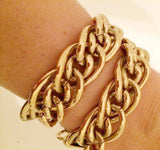 Golden Link Chain Necklace Vintage Jewelry