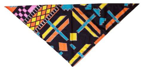 Retro Head Scarf Triangular Colorful Vintage Accessories