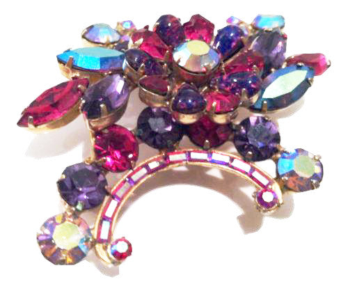 Hollycraft Vintage Jewelry Magnificent Pin Brooch