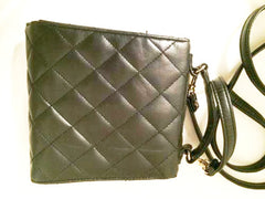 Rosetti Quilted Little Black Bag Shoulder Strap Crossbody Faux Leather Vintage