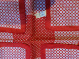 Red White Polka Dots Scarf Water Repellent Vintage Accessories