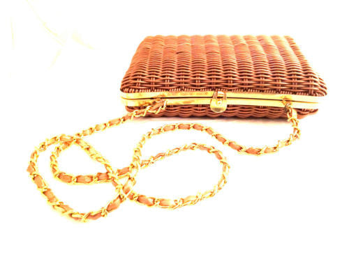 Tandem Vintage Bag Woven Basket Clutch Handbag Accessory