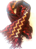 Missoni Vintage Scarf Wool Silk Designer Accessories Made in Italy