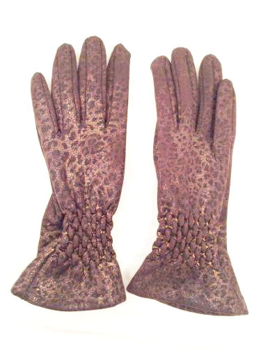 Leopard Vintage Gloves Metallic Animal Print Accessories