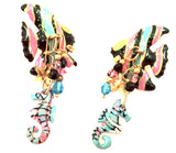 LATR Lunch at the Ritz Angel Fish Earrings Whimsical Jewelry