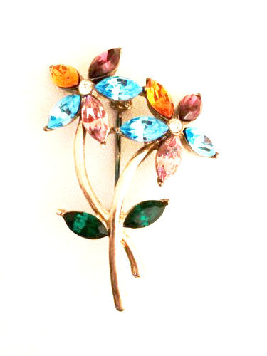 Monet Vintage Jewelry Whimsical Floral Pin Brooch