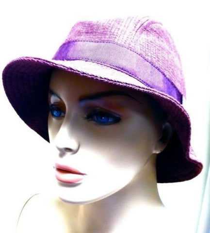 MALO authentic designer Hat cappello Orchid Wine Fedora Style Millinery NOS NWT