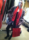 Valentino Garavani Set Red Tote Bag and Scarf SS 68 Re-Edition Vintage Accessories