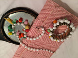 Set of 3 Fruit Salad Bracelet Earrings Necklace Parure Vintage Jewelry