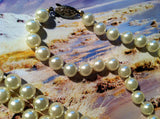 Long Beaded Pearls Necklace Vintage Jewelry