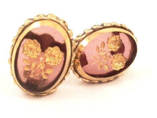 whiting and davis vintage earrings