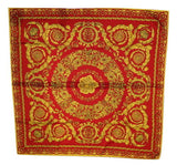 vintage red gold scarf made in italy