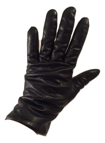 vintage black leather gloves XL
