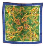 Paisley Print Silk Scarf Vintage Accessory