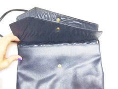 Navy Blue Vintage Bag Clutch Retro Handbag