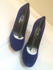 Hearts Of Darkness by Cri de Coeur 10 Velvet Glamour Hd22004 Royal Blue Pumps